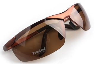 Male Polarized Sun Glasses - Brown Frame
