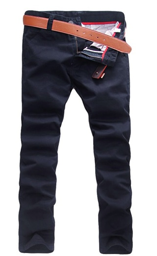 Modern Casual Pants Straight - in Cotton - Dark Blue