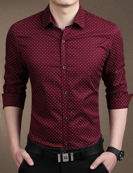Camisa De Vestir Moderna Plus Size Sólida Con Diseño En 5 Colores