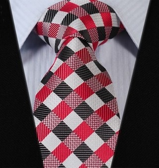 Corbata Fancy - a Cuadros - Roja / Cafe
