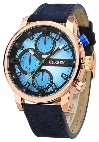 Stylish and Juvenile Watch CURREN 8170 Sport Type - in 4 Colors