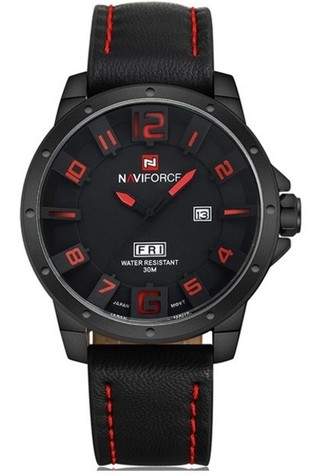 Watch Fashion Military Style NAVIFORCE 9061 - Bracelet in Leather - in 4 Colors