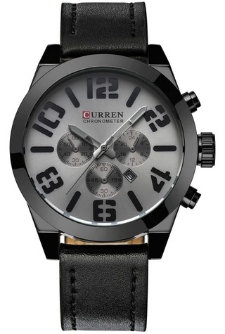 Stylish and Casual Watch CURREN 8198 - Leather Bracelet - in 6 Colors