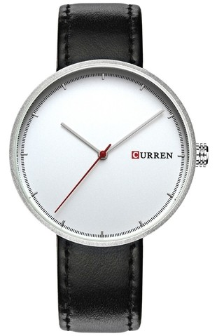 Classic Watch CURREN 8223 White Dial - in Silver, Gold and Black