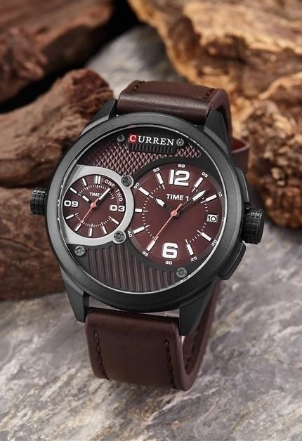 calidad grandes ofertas en moda varios estilos Reloj Clásico Casual CURREN 8249 - Pulsera en Cuero - en 4 Colores