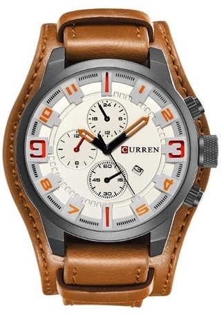 Casual Fashion Watch CURREN 8225 Luxury Leather - in 5 Colors