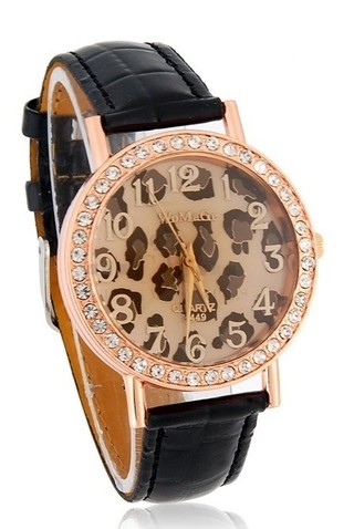 Reloj Femenino Fashion - WoMaGe A449 en Animal Print - Negro