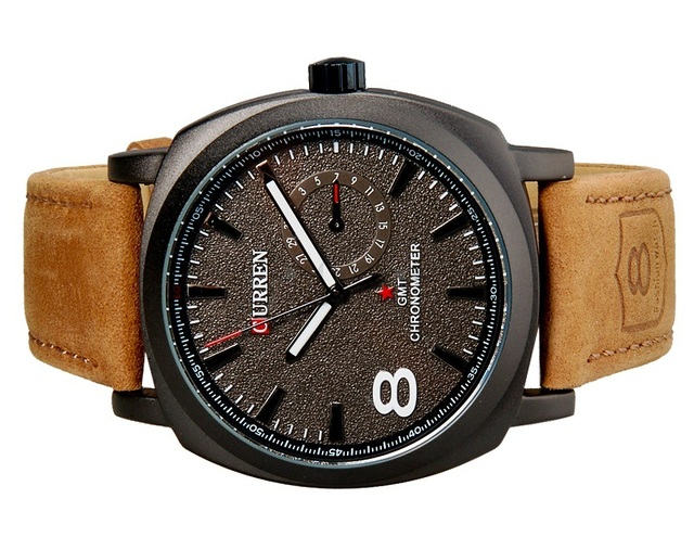 b29b1eb324506 ... Reloj Curren 8139 Unisex Analogo Pulso en Cuero - Gris - comprar online  ...
