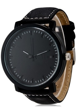 Reloj Unisex de Estilo Casual Fashion Analogo - Negro