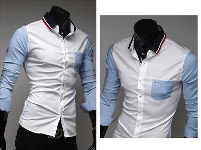 Camisa Casual Jovem em Duas Cores com Detalhes - Branca