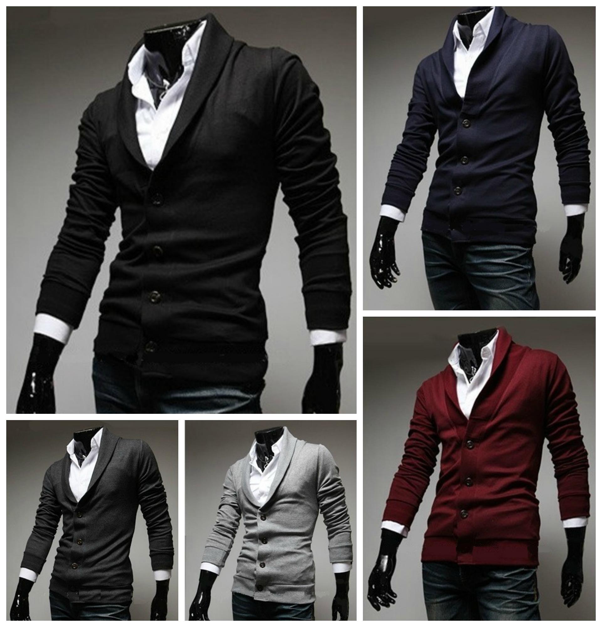2c92aa565d4a5 Saco Fashion Slim Fit Tejido - Cuello Alto Moderno - Rojo