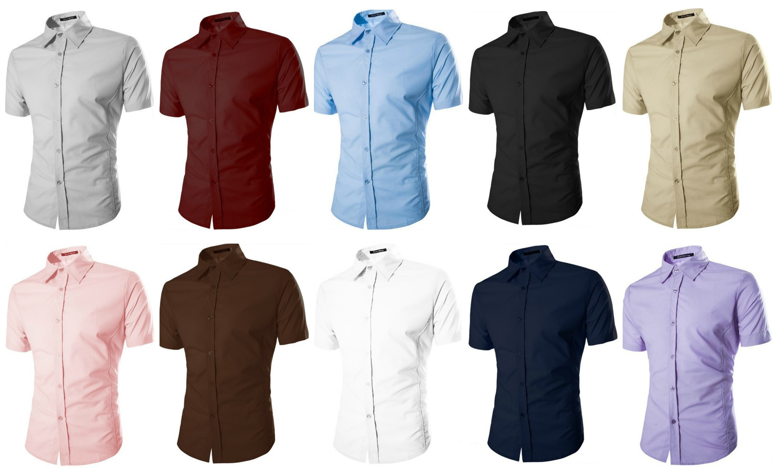 Camisa Casual Fashion Manga Corta - Color Solido