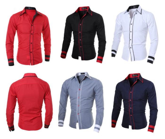 Camisa Casual Fashion com Doble Linha Frontais e Detalhe nas Mangas - em 5 Cores