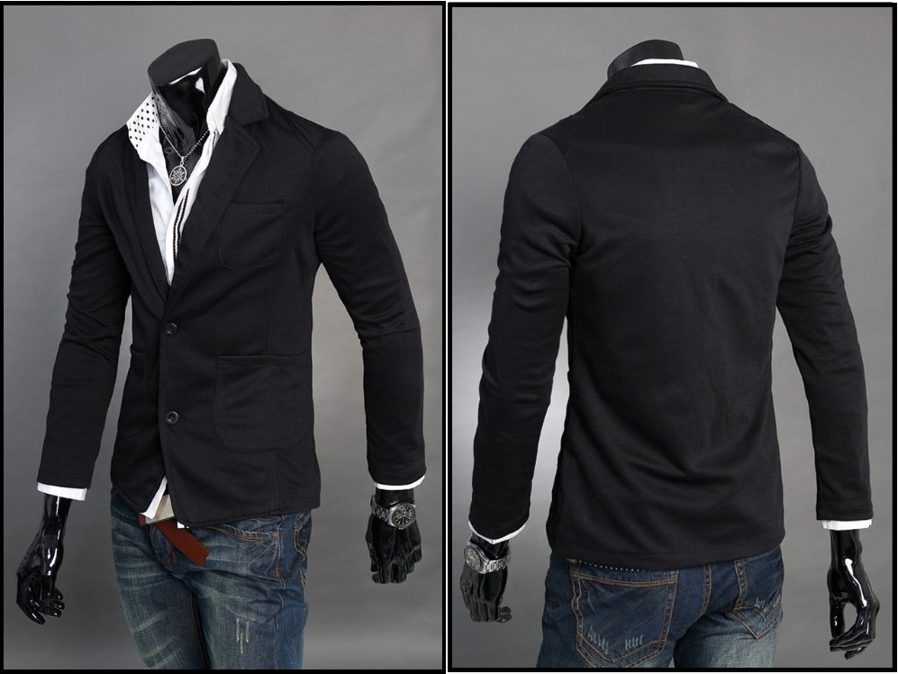 Abrigo Fashion Estilo Blazer Slim Fit - Negro