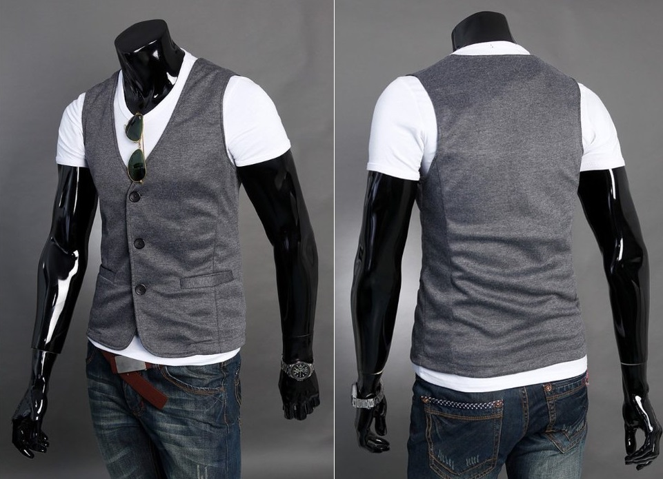 Chaleco Casual Clasico - Gris