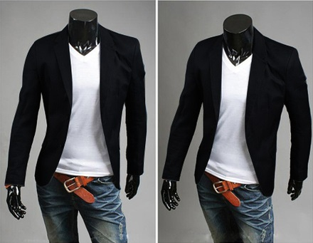Blazer Casual Fashion Corte Ingles - Negro