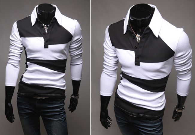 Camisa Polo Casual Fashion en Dos Colores - Blanca (MH617)