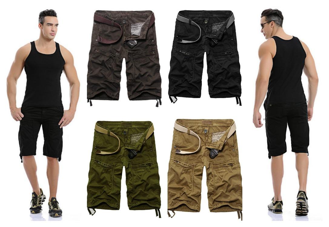 Bermuda Fashion Estilo Exército - com Bolsos