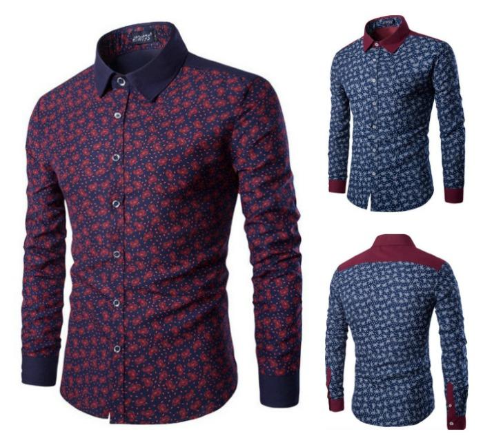 Camisa Casual Fashion em Duas Cores com Detalhes - Floral
