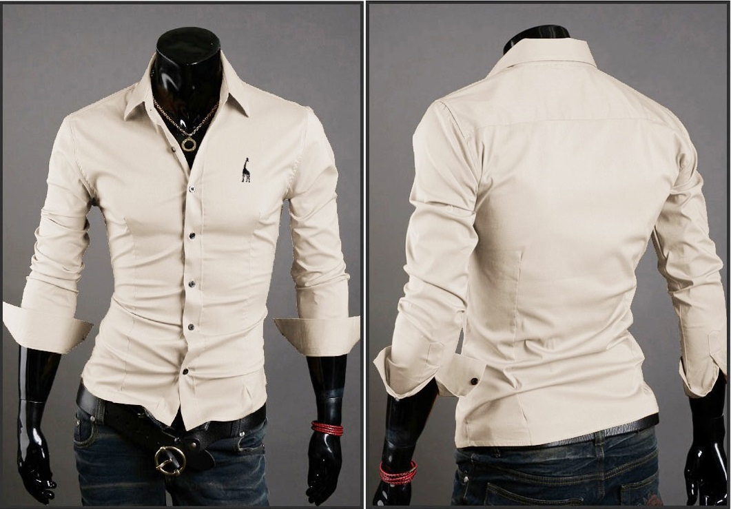 Camisa Casual Clasica Night Style - Beige