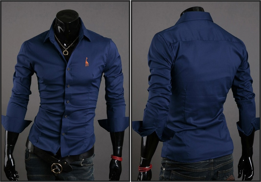 Camisa Casual Clasica Night Style - Azul
