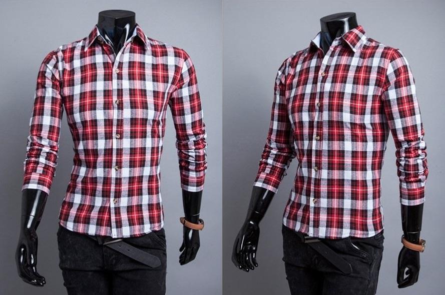 Camisa Casual Fashion Xadrez - Estilo Lenhador - Vermelha