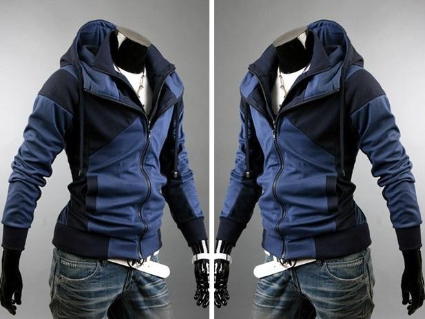Jaqueta Casual com Desenho Moderno - em Duas Cores - Azul