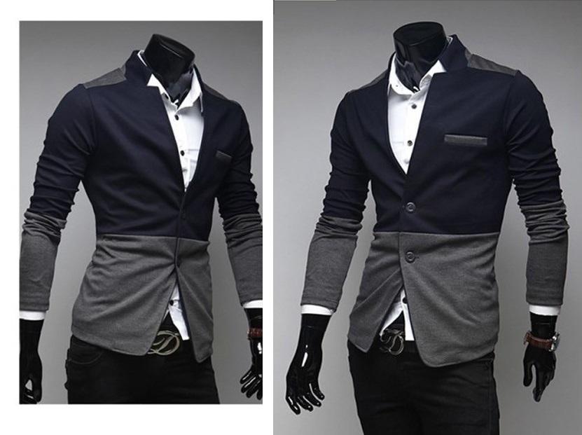 Blazer Fashion em Duas Cores - Azul