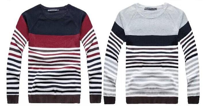 Sweater Moderno Gola Redonda Listrado