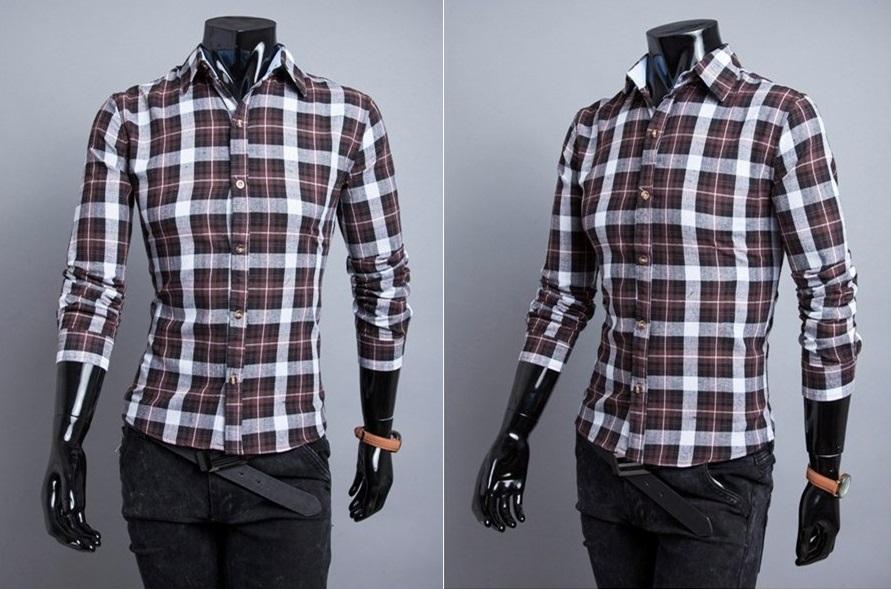 Camisa Casual Fashion Xadrez - Estilo Lenhador - Marrom