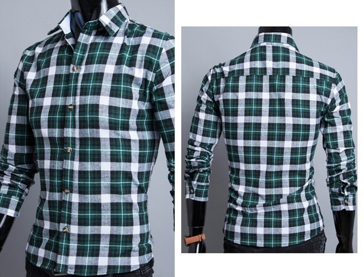 Camisa Casual Fashion Xadrez - Estilo Lenhador - Verde