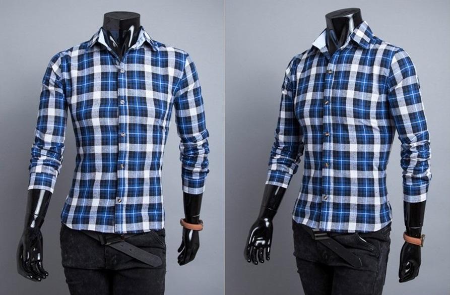 Camisa Casual Fashion Xadrez - Estilo Lenhador - Azul