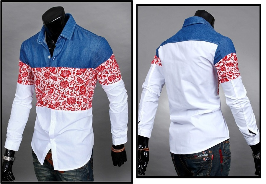 Camisa Casual Fashion Floral - Roja