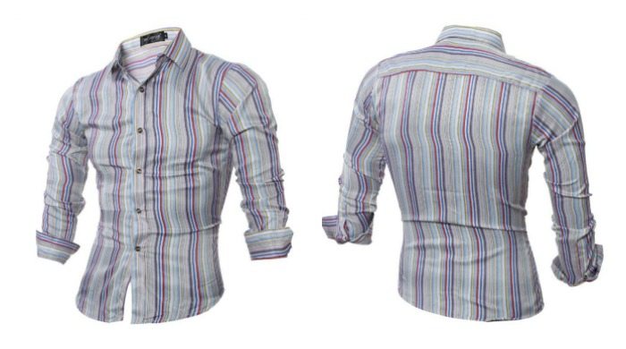 Camisa Fashion Casual - Listras Coloridas