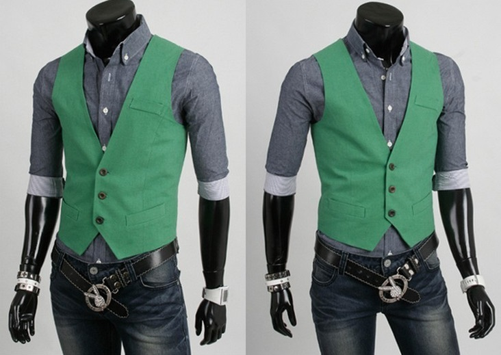 Chaleco Casual Slim Fit - Verde (MH4719)