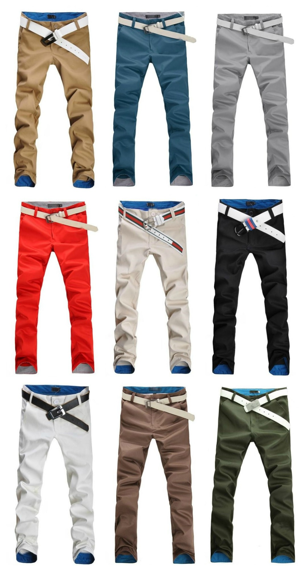 Casual Slim Fit Pants Modern Style - Details on the Waist