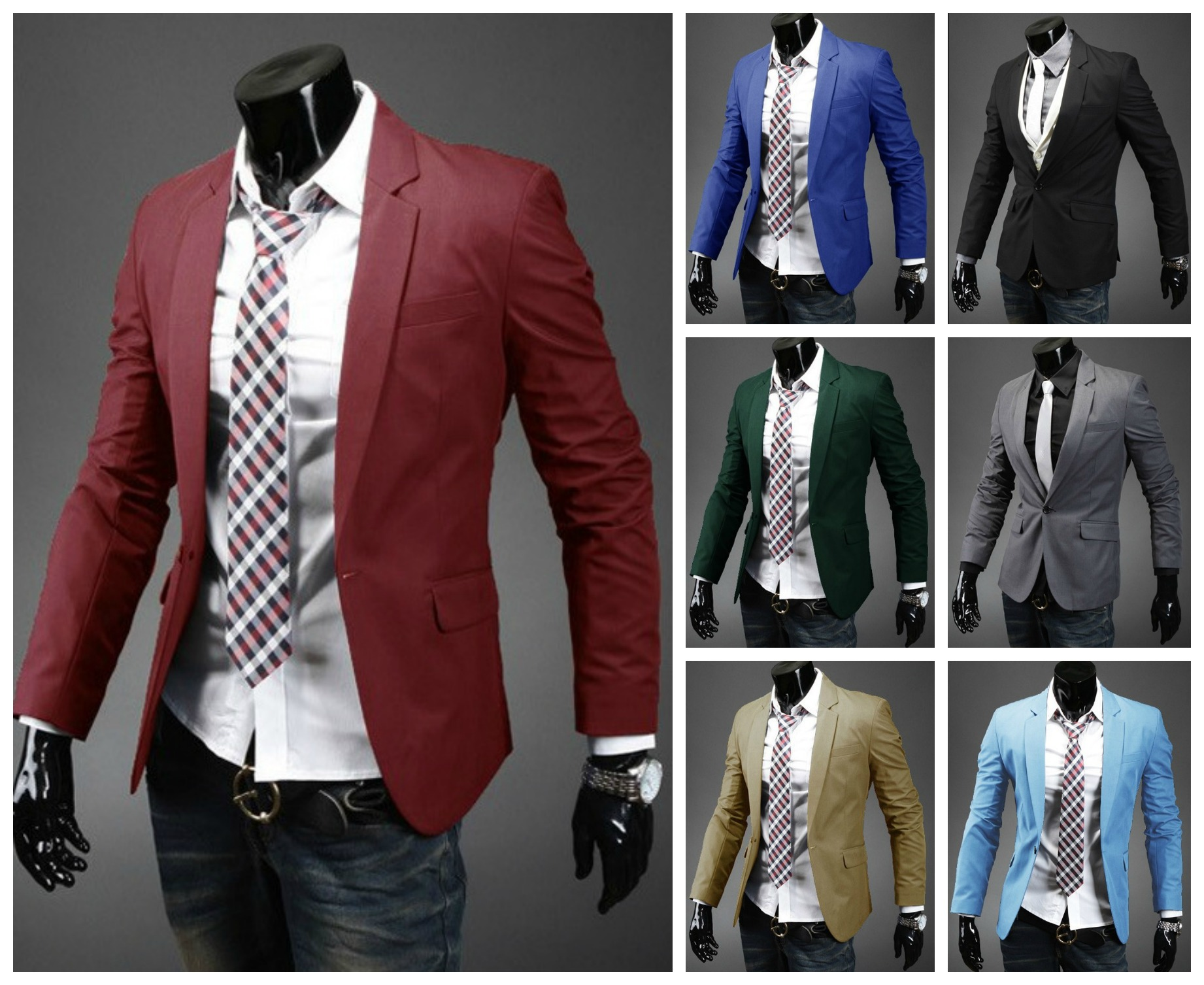Elegant Modern Blazer One Button - Solid Color - in 7 Colors