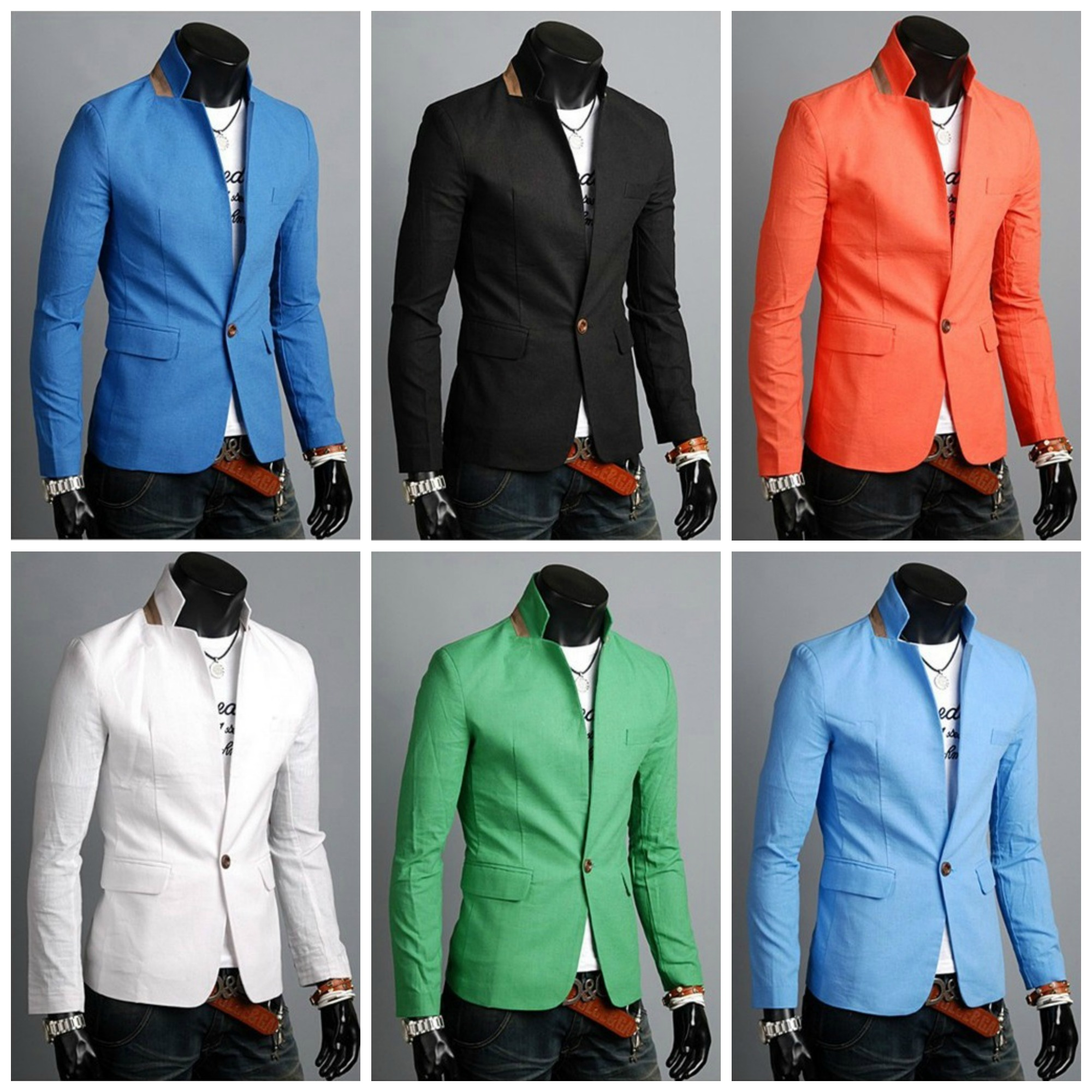 Youth Blazer Fashion in Detail in the Neck - One Button - in 6 Colors
