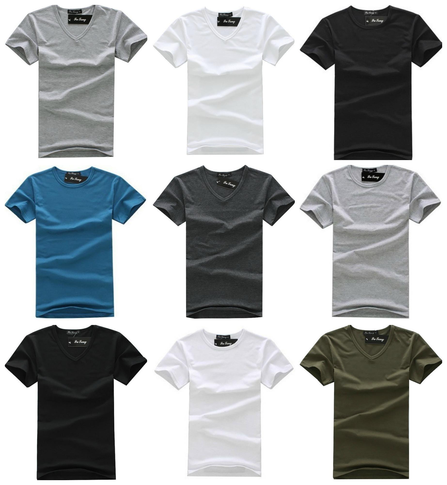 bf14750856 Camiseta Fashion Basica Moderna - Gola V - em 5 Cores