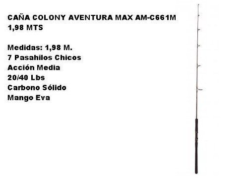 Caña Colony Aventura Max Am-c661m 1,98 Mts en internet