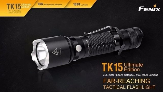 Linterna Fenix Tk15 Ue Black 1000 Lm 1*18650 + Switch Remoto en internet