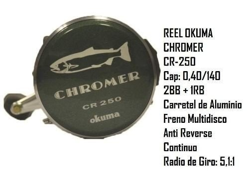 Reel Rotativo Okuma Chromer Cr 250 en internet