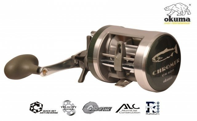 Reel Rotativo Okuma Chromer Cr 250