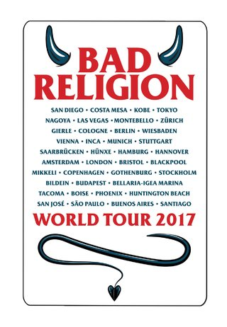 Bad Religion - World Tour 2017 [Adesivo]