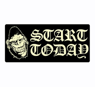 Gorilla Biscuits - Start Today [Adesivo]