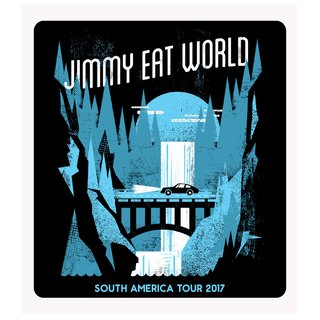 Jimmy Eat World - South America Tour 2017 [Adesivo]