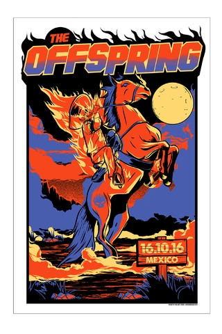 THE OFFSPRING - Mexico 16.10.16 [POSTER]