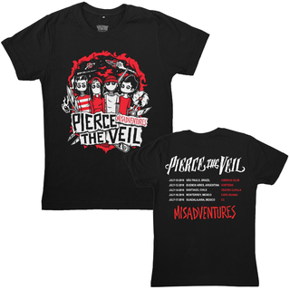 Pierce The Veil - Misadventures + Adesivo [Tour Dates 2016]