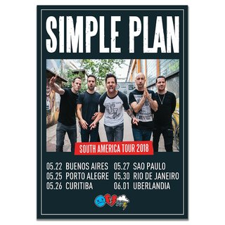 Simple Plan - South America Tour 2018 [Poster]