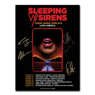 Sleeping With Sirens - Gossip World Tour 2018 [Pôster Autografado]